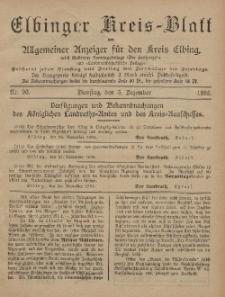 Kreis-Blatt des Königlich Preußischen Landraths-Amtes zu Elbing, Nr. 96 Dienstag 3 Dezember 1895