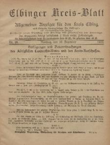Kreis-Blatt des Königlich Preußischen Landraths-Amtes zu Elbing, Nr. 98 Dienstag 10 Dezember 1895