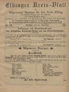 Kreis-Blatt des Königlich Preußischen Landraths-Amtes zu Elbing, Nr. 100 Dienstag 17 Dezember 1895