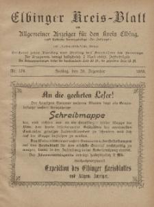 Kreis-Blatt des Königlich Preußischen Landraths-Amtes zu Elbing, Nr. 101 Freitag 20 Dezember 1895