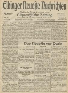 Elbinger Neueste Nachrichten, Nr. 243 Sonnabend 5 September 1914 66. Jahrgang