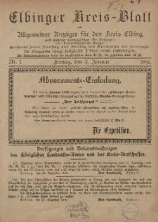 Kreis-Blatt des Königlich Preußischen Landraths-Amtes zu Elbing, Nr. 1 Freitag 3 Januar 1896