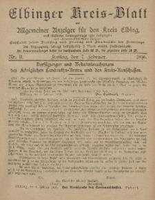 Kreis-Blatt des Königlich Preußischen Landraths-Amtes zu Elbing, Nr. 11 Freitag 7 Februar 1896