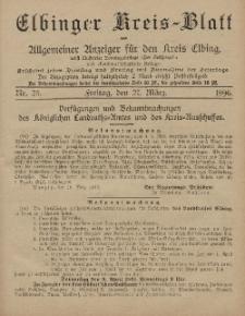 Kreis-Blatt des Königlich Preußischen Landraths-Amtes zu Elbing, Nr. 25 Freitag 27 März 1896