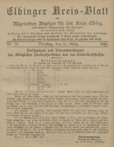 Kreis-Blatt des Königlich Preußischen Landraths-Amtes zu Elbing, Nr. 26 Dienstag 31 März 1896