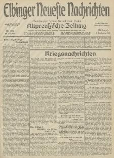 Elbinger Neueste Nachrichten, Nr. 247 Mittwoch 9 September 1914 66. Jahrgang