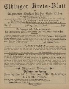 Kreis-Blatt des Königlich Preußischen Landraths-Amtes zu Elbing, Nr. 47 Freitag 12 Juni 1896