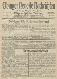 Elbinger Neueste Nachrichten, Nr. 248 Donnerstag 10 September 1914 66. Jahrgang