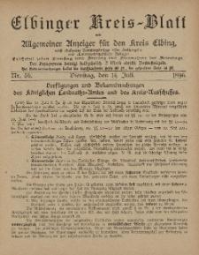 Kreis-Blatt des Königlich Preußischen Landraths-Amtes zu Elbing, Nr. 56 Dienstag 14 Juli 1896