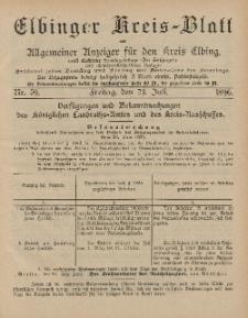 Kreis-Blatt des Königlich Preußischen Landraths-Amtes zu Elbing, Nr. 59 Freitag 24 Juli 1896