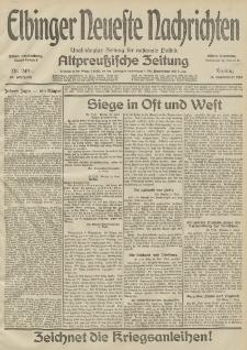 Elbinger Neueste Nachrichten, Nr. 249 Freitag 11 September 1914 66. Jahrgang