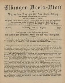 Kreis-Blatt des Königlich Preußischen Landraths-Amtes zu Elbing, Nr. 68 Dienstag 25 August 1896