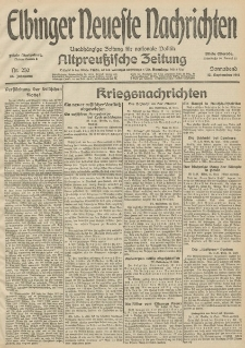 Elbinger Neueste Nachrichten, Nr. 250 Sonnabend 12 September 1914 66. Jahrgang