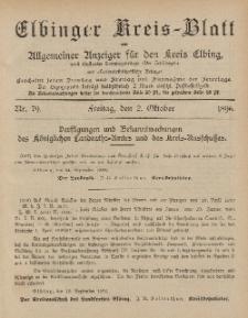 Kreis-Blatt des Königlich Preußischen Landraths-Amtes zu Elbing, Nr. 79 Freitag 2 Oktober 1896