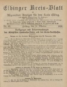 Kreis-Blatt des Königlich Preußischen Landraths-Amtes zu Elbing, Nr. 83 Freitag 16 Oktober 1896