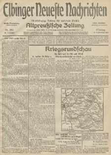 Elbinger Neueste Nachrichten, Nr. 252 Montag 14 September 1914 66. Jahrgang