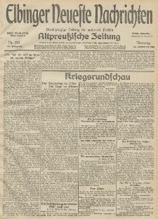 Elbinger Neueste Nachrichten, Nr. 253 Dienstag 15 September 1914 66. Jahrgang