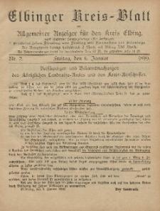 Kreis-Blatt des Königlich Preußischen Landraths-Amtes zu Elbing, Nr. 2 Freitag 6 Januar 1899
