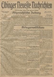 Elbinger Neueste Nachrichten, Nr. 254 Mittwoch 16 September 1914 66. Jahrgang