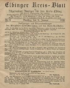 Kreis-Blatt des Königlich Preußischen Landraths-Amtes zu Elbing, Nr. 9 Dienstag 31 Januar 1899