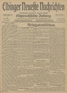 Elbinger Neueste Nachrichten, Nr. 255 Donnerstag 17 September 1914 66. Jahrgang
