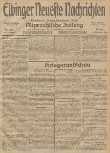Elbinger Neueste Nachrichten, Nr. 256 Freitag 18 September 1914 66. Jahrgang