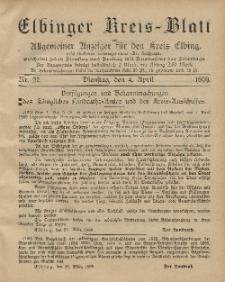 Kreis-Blatt des Königlich Preußischen Landraths-Amtes zu Elbing, Nr. 27 Dienstag 4 April 1899