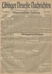 Elbinger Neueste Nachrichten, Nr. 257 Sonnabend 19 September 1914 66. Jahrgang