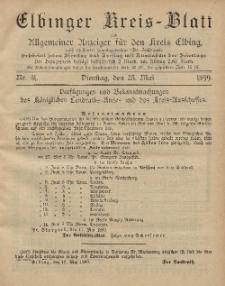 Kreis-Blatt des Königlich Preußischen Landraths-Amtes zu Elbing, Nr. 41 Dienstag 23 Mai 1899
