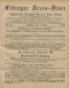 Kreis-Blatt des Königlich Preußischen Landraths-Amtes zu Elbing, Nr. 44 Freitag 2 Juni 1899