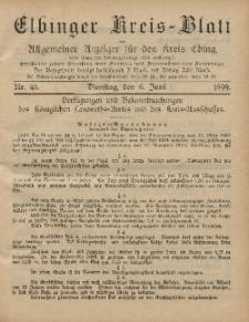 Kreis-Blatt des Königlich Preußischen Landraths-Amtes zu Elbing, Nr. 45 Dienstag 6 Juni 1899