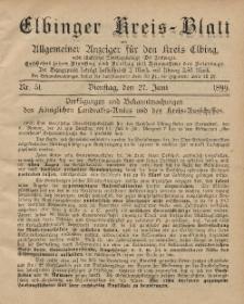 Kreis-Blatt des Königlich Preußischen Landraths-Amtes zu Elbing, Nr. 51 Dienstag 27 Juni 1899