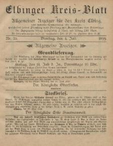 Kreis-Blatt des Königlich Preußischen Landraths-Amtes zu Elbing, Nr. 53 Dienstag 4 Juli 1899