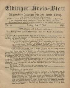 Kreis-Blatt des Königlich Preußischen Landraths-Amtes zu Elbing, Nr. 55 Freitag 7 Juli 1899