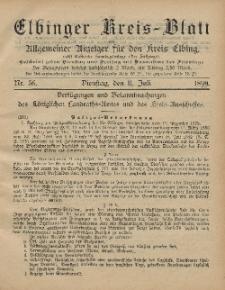 Kreis-Blatt des Königlich Preußischen Landraths-Amtes zu Elbing, Nr. 56 Dienstag 11 Juli 1899