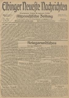 Elbinger Neueste Nachrichten, Nr. 259 Montag 21 September 1914 66. Jahrgang