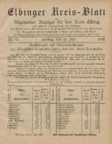 Kreis-Blatt des Königlich Preußischen Landraths-Amtes zu Elbing, Nr. 57 Freitag 14 Juli 1899