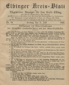 Kreis-Blatt des Königlich Preußischen Landraths-Amtes zu Elbing, Nr. 59 Freitag 21 Juli 1899