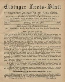 Kreis-Blatt des Königlich Preußischen Landraths-Amtes zu Elbing, Nr. 61 Freitag 28 Juli 1899