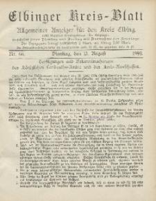 Kreis-Blatt des Königlich Preußischen Landraths-Amtes zu Elbing, Nr. 66 Dienstag 15 August 1899