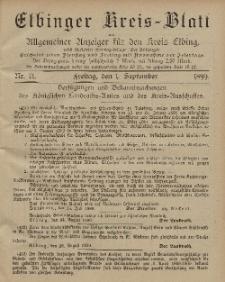 Kreis-Blatt des Königlich Preußischen Landraths-Amtes zu Elbing, Nr. 71 Freitag 1 September 1899