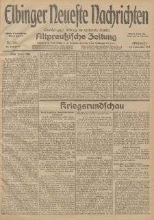 Elbinger Neueste Nachrichten, Nr. 261 Mittwoch 23 September 1914 66. Jahrgang