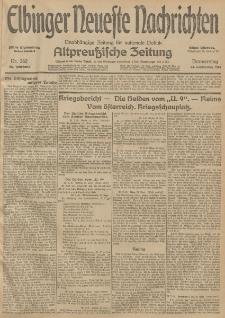 Elbinger Neueste Nachrichten, Nr. 262 Donnerstag 24 September 1914 66. Jahrgang