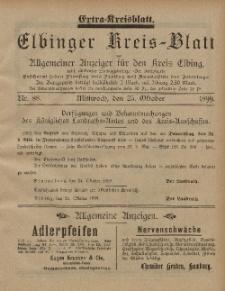 Kreis-Blatt des Königlich Preußischen Landraths-Amtes zu Elbing, Nr. 88 Mittwoch 25 Oktober 1899