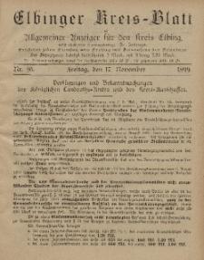 Kreis-Blatt des Königlich Preußischen Landraths-Amtes zu Elbing, Nr. 95 Freitag 17 November 1899