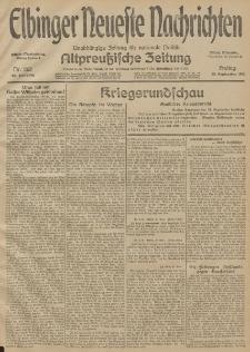 Elbinger Neueste Nachrichten, Nr. 263 Freitag 25 September 1914 66. Jahrgang