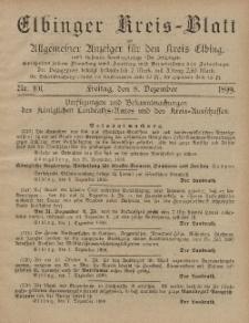 Kreis-Blatt des Königlich Preußischen Landraths-Amtes zu Elbing, Nr. 101 Freitag 8 Dezember 1899