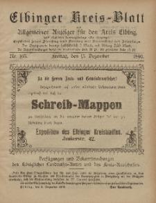 Kreis-Blatt des Königlich Preußischen Landraths-Amtes zu Elbing, Nr. 103 Freitag 15 Dezember 1899