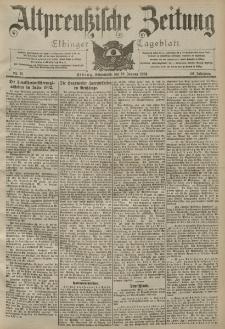 Altpreussische Zeitung, Nr. 13 Sonnabend 16 Januar 1904, 56. Jahrgang