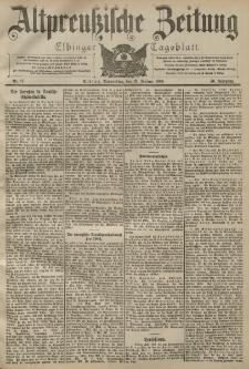 Altpreussische Zeitung, Nr. 17 Donnerstag 21 Januar 1904, 56. Jahrgang